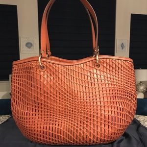 ✨SALE!✨Cole Haan Genevieve Woven Leather Weave Bag